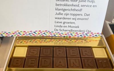 Super Bedankt in chocolade!